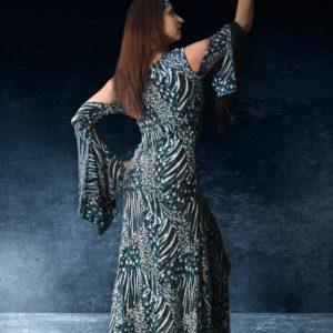 belly dance tunic or ghawazee tunic for galabeya belly dance dress is a saidi tunic for belly dancers outfits and arabic dance Najla by Artemisya Dancewear