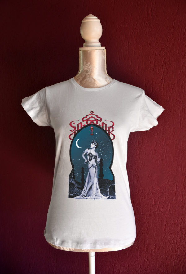 Moonlight tshirt for belly dance and tribal fusion dance lesson