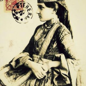 Azerbaijan woman tshirt for belly dance and tribal fusion dance lesson - armenian girl vintage photo