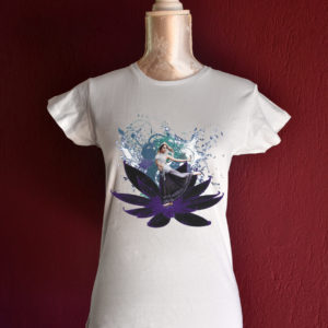 Lotus dancer tshirt for belly dance and tribal fusion dance lesson