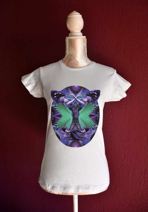 Ruth St. Denis cobra tshirt for belly dance and tribal fusion dance lesson