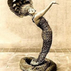 Ruth St. Denis cobra tshirt for belly dance and tribal fusion dance lesson - Ruth St. Denis vintage photo