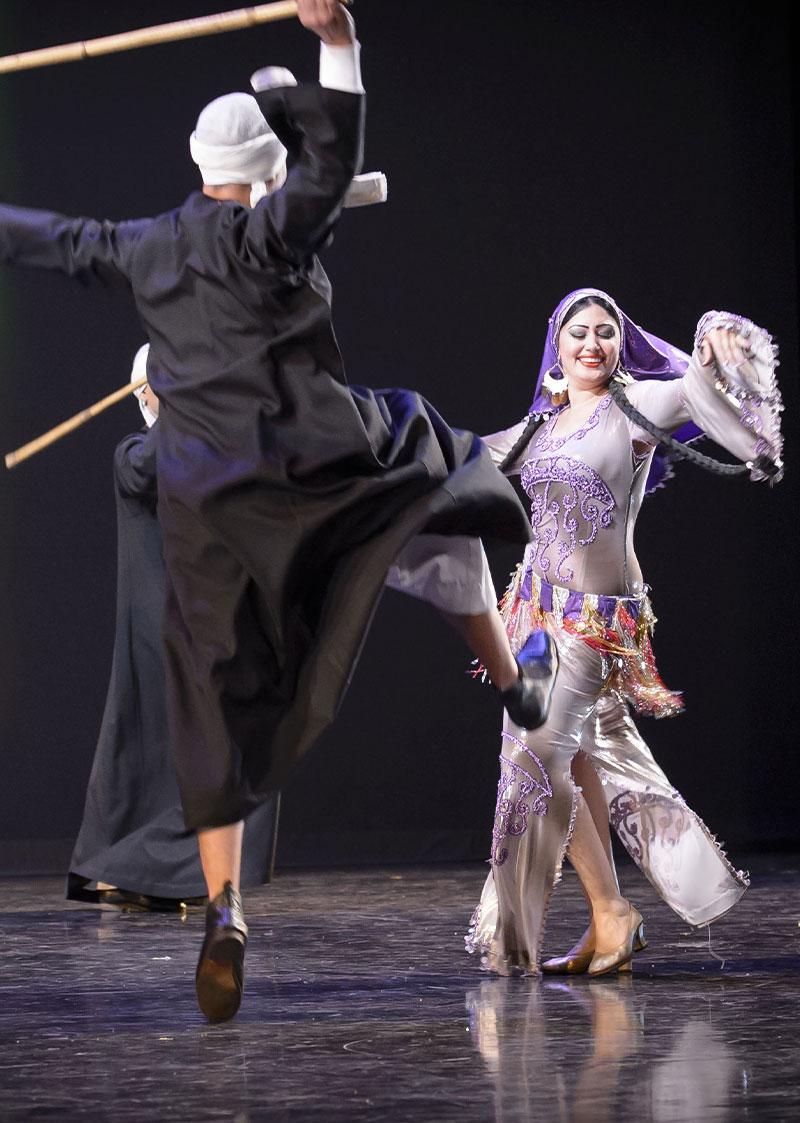 Artemisya Dancewear blog - Saidi: the stick dance post - Mahmoud Reda Folk Dance Troupe