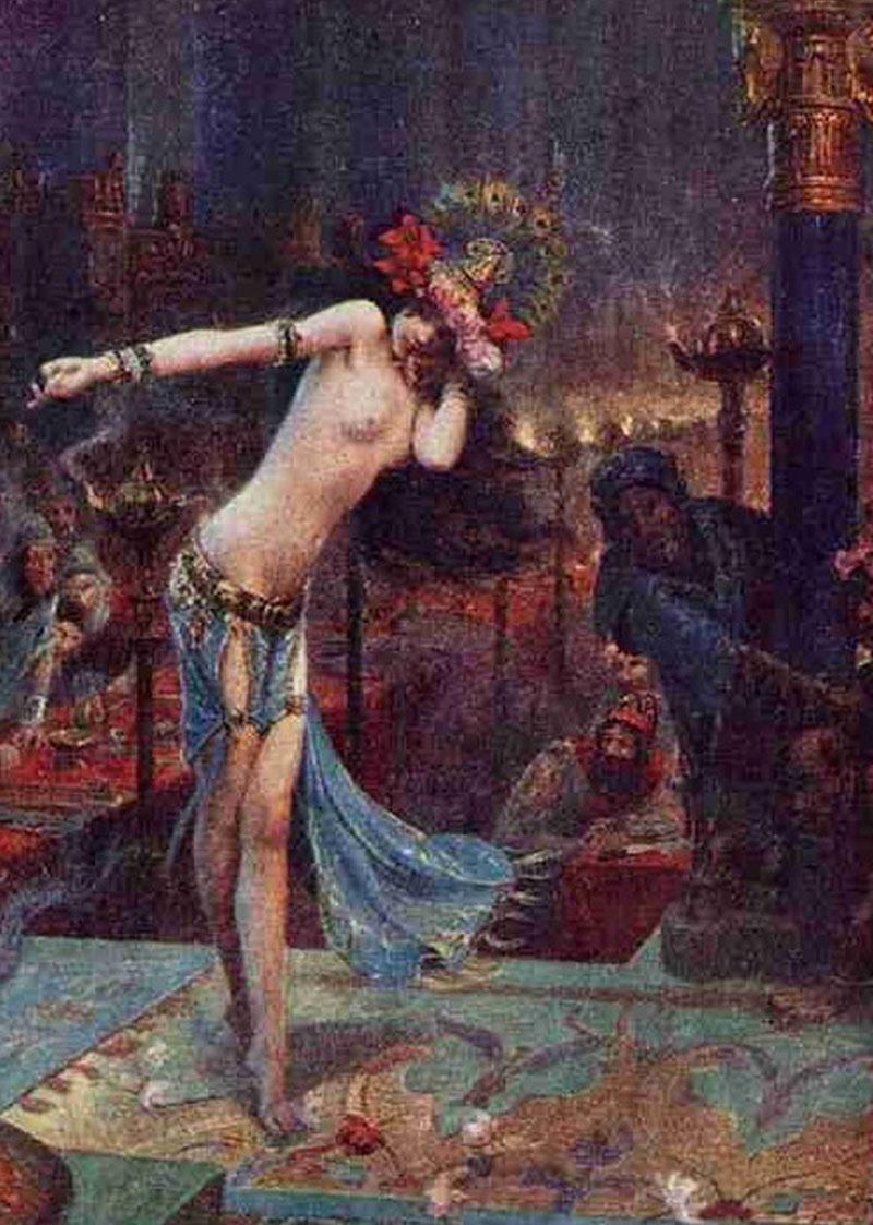 Artemisya Dancewear blog - Salomè The Seductive Dancer post - Salomé by Gaston Bussiere 1914