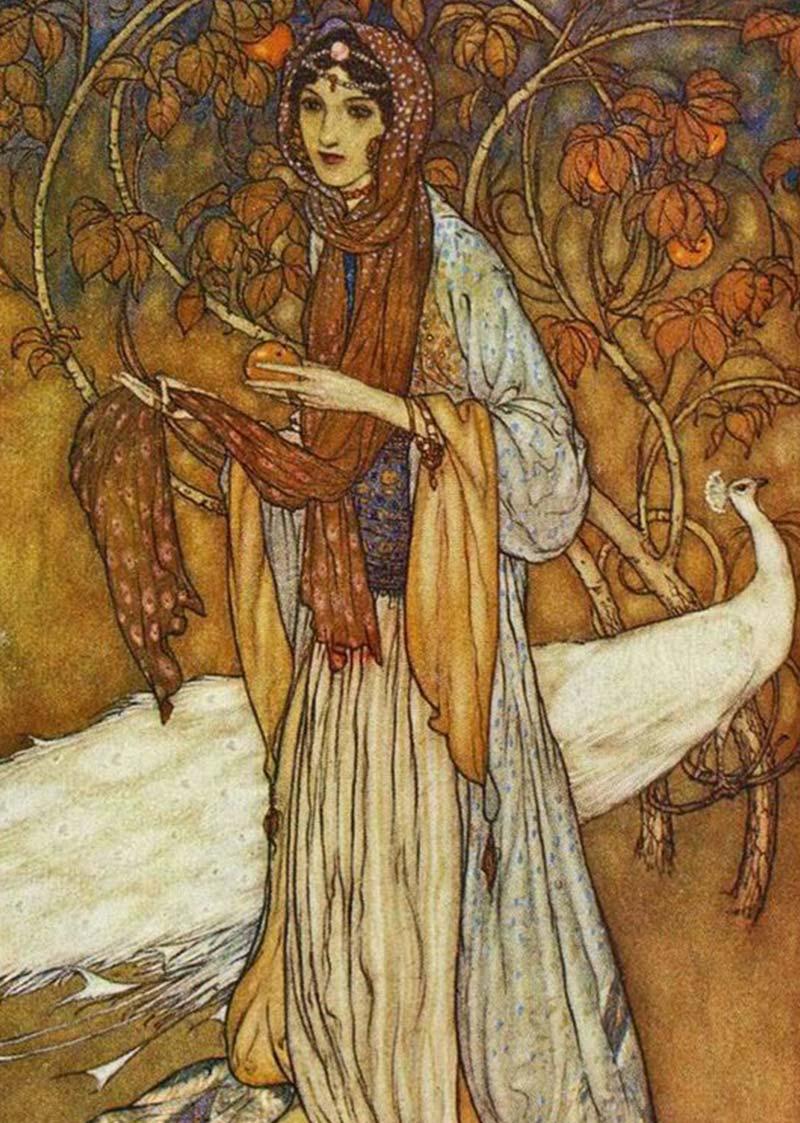 Artemisya Dancewear blog - The 1001 nights of Princess Sherazade - Princess Sheherazade by Edmund Dulac 1908