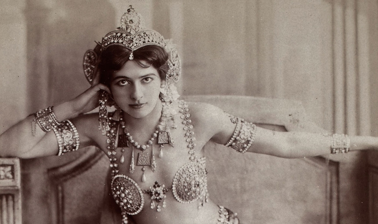 Artemisya Dancewear blog - The dark charm of Mata Hari post - Mata Hari vintage photo