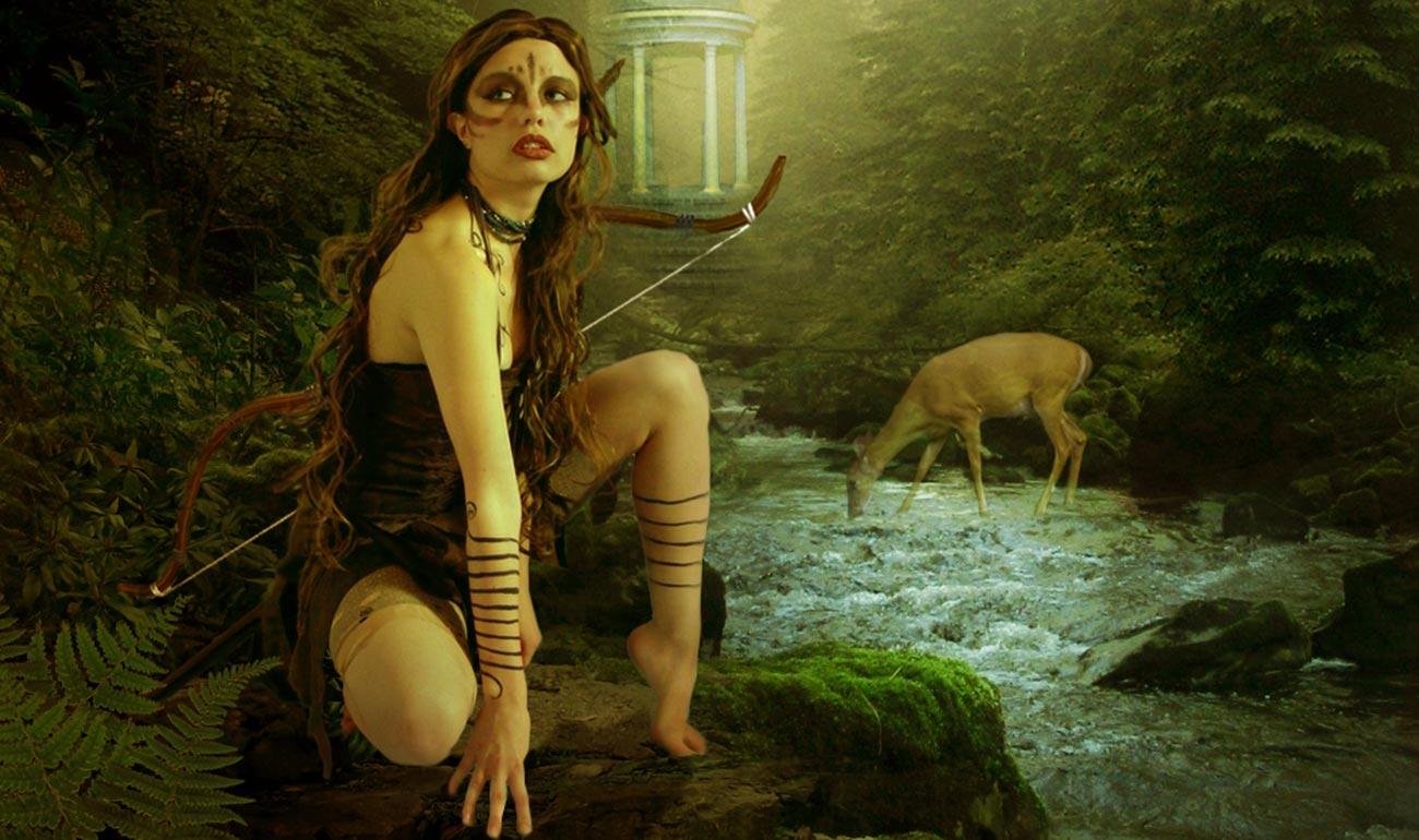 Artemisya Dancewear blog - The thousand faces of Artemis post - Artemis goddess art photo